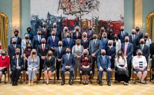 Photographie du Conseil des ministres.