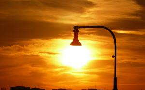 Un lampadaire.