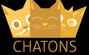 Illustration de trois chatons qui semblent former une courrone.