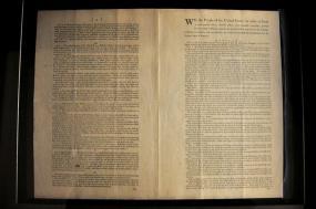 Photographie de la Constitution américaine.