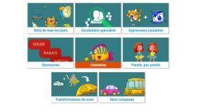 Page d'accueil des exercices.