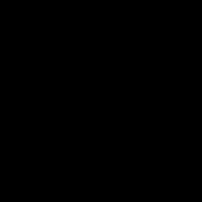 Blason noire avec un crochet blanc au centre