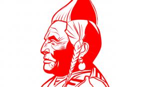 dessin de profil d'une personne autochtone