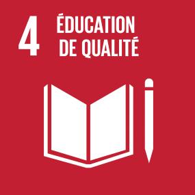Logo de l'ODD 4 : éducation de qualité.