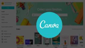 Page d'accueil de Canva.