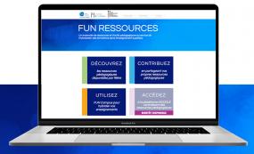 Image d'une ordinateur affichant à l'écran le site Web FUN ressources.