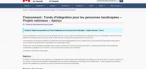 Site «Fonds d'intégration pour les personnes handicapées»
