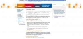 Site du Gouvernement du Québec, page du programme «Réussir»