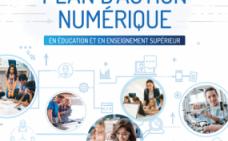 Page couverture du Plan d'action numérique en éducation et en enseignement supérieur.