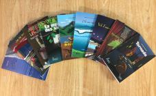 Photographie des neufs nouveaux romans de la collection.