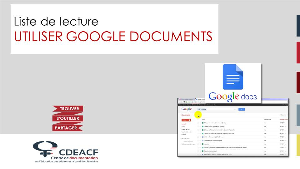 Liste de lecture Utiliser Google Documents