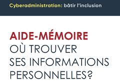 Cyber administration : bâtir l'inclusion. Aide mémoire. Où trouver ses informations personnelles?