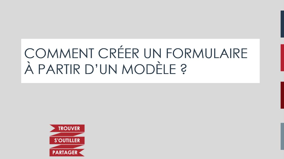 Comment créer un formulaire à partir d'un modèle