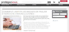 miniature site limiter la fraude financière envers les aînés