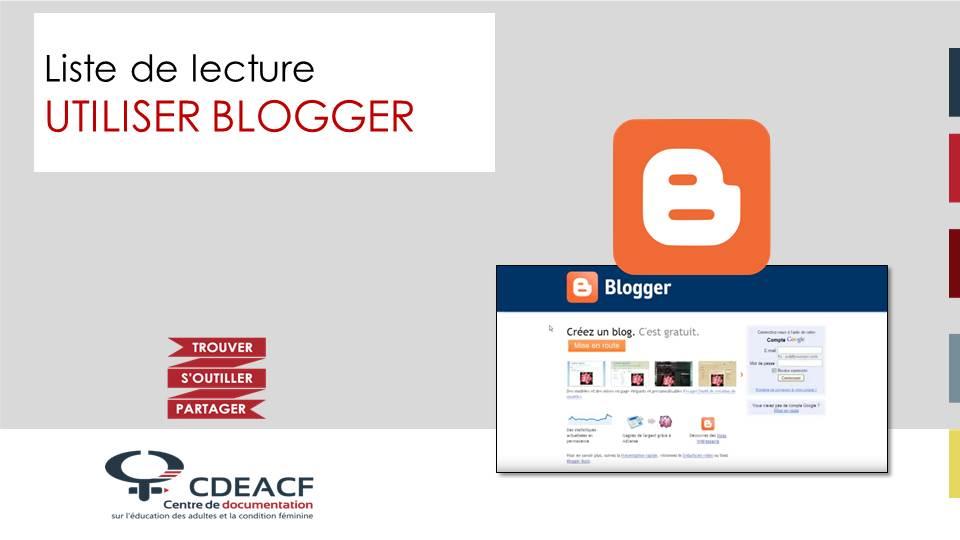 Liste de lecture Utiliser Blogger