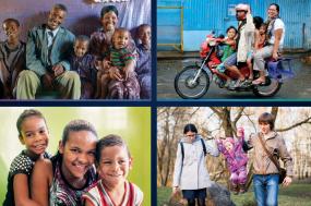 quatre photos montrant quatre familles de milieux différents