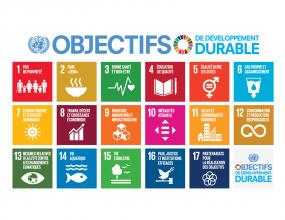 Les 17 objectifs de développement durable.