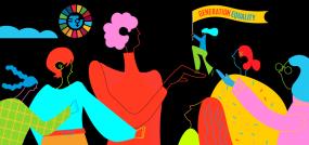 Bannière d'ONU Femmes pour la Journée internationale des femmes 2021.