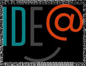 Logo d'IDE@. Une ligne courbée en dessous ajoute un sourire à l'acronyme.