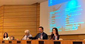 Vue sur un panel de l'UNESCO