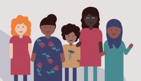 illustration de cinq femmes de diverses origines