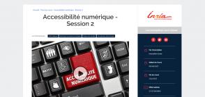 Site du MOOC, page « Accessibilité numérique Session 2»