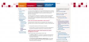 Site d'Emploi-Québec, page «Contrat d'intégration au travail »