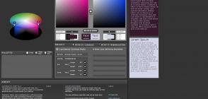 Page de l'application web «Contrast-A»