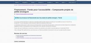 Site «Fonds pour l'accessibilité»