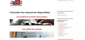Page d'accueil de Complément MOOCACCESS : site de ressources participatif sur l'accessibilité numérique