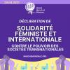 Déclaration de Solidarité Féministe et Internationale contre le Pouvoir des Sociétés Transnationales.