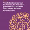 Extrait de la page couverture de « La voie fédérale concernant les femmes, les filles et les personnes 2ELGBTQQIA+ autochtones disparues et assassinées ».