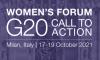 Logo du Women's Forum G20 Italy.