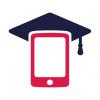 une tablette porte un chapeau de diplômé